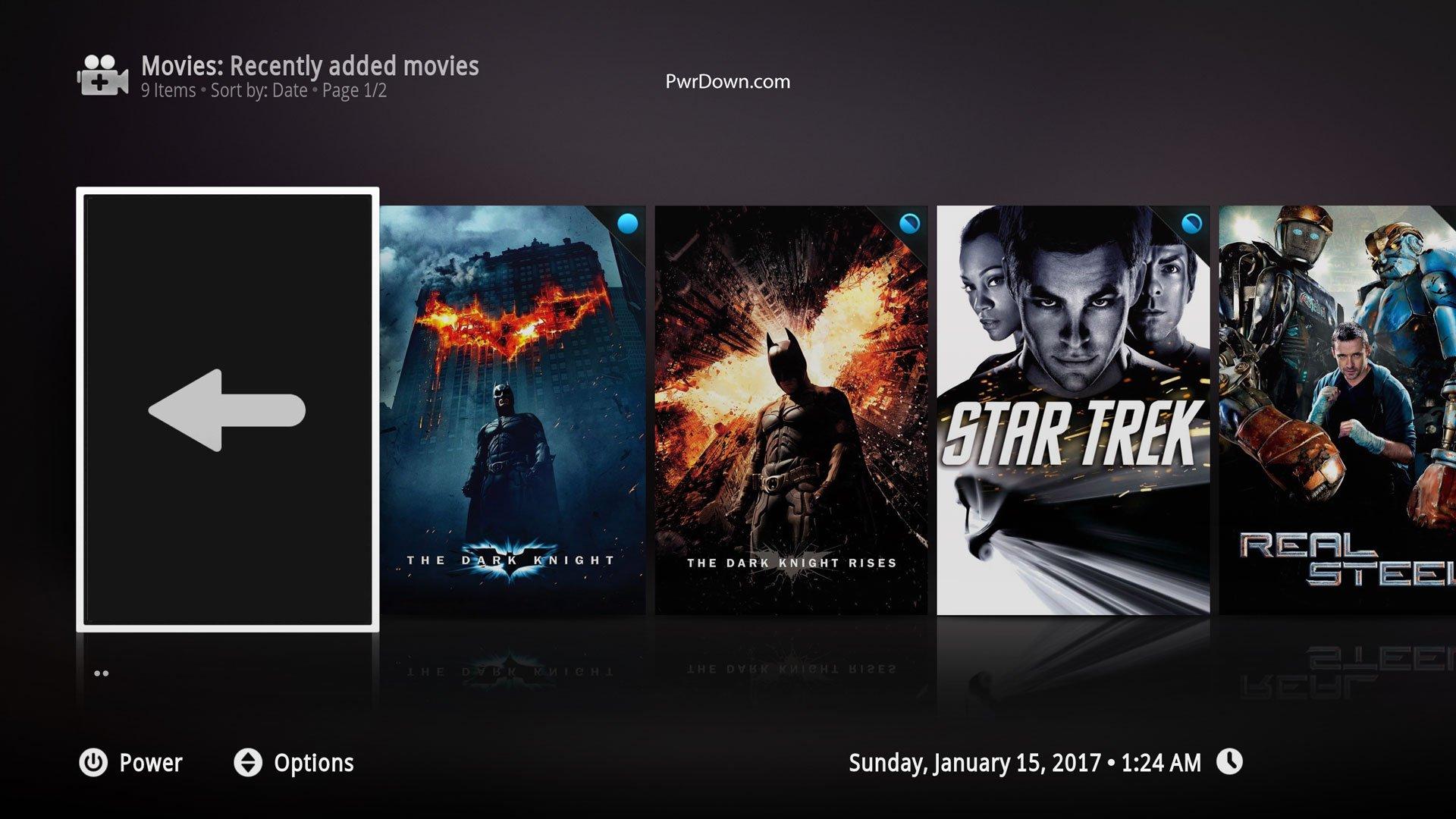 Kodi Xperience1080 Skin Movies