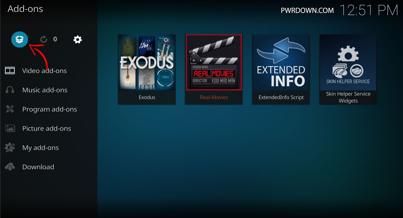 Kodi Wookie Build installation part 6