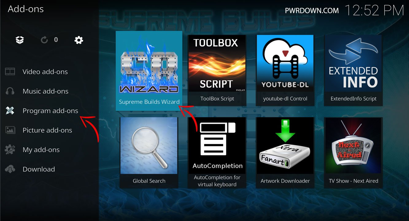 Kodi Titanium Build installation instructions