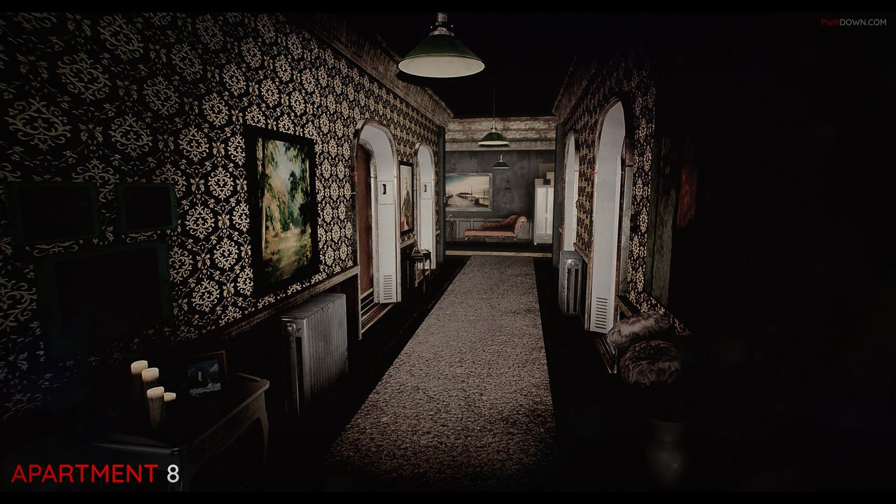 hallway of apartment 8