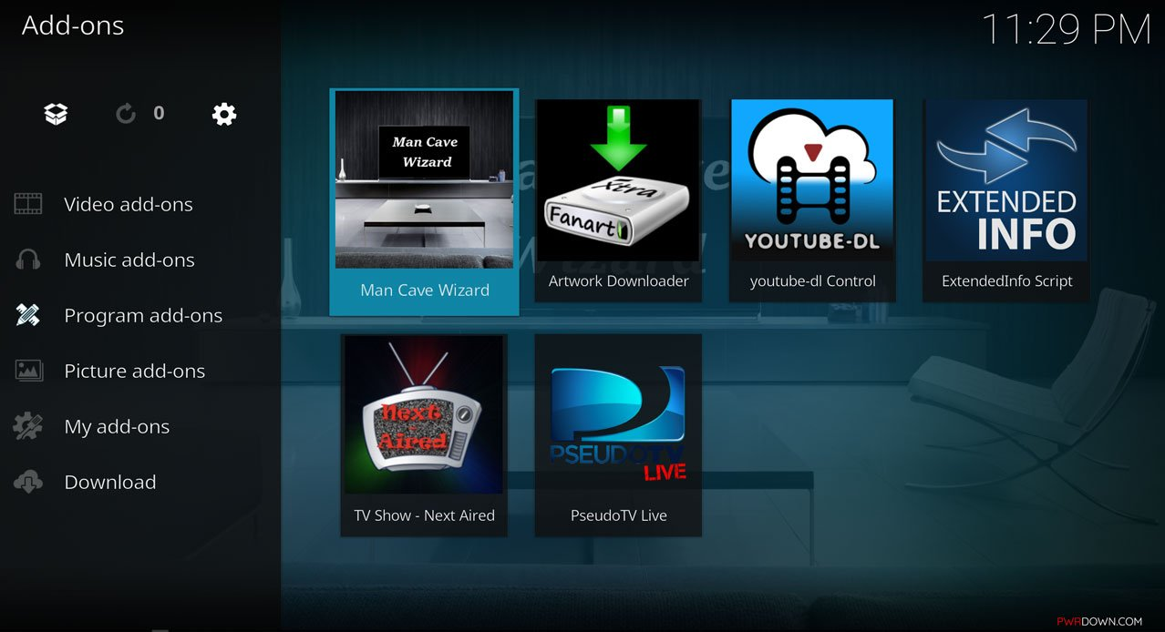 Man Cave Wizard : How to install the man cave build on kodi krypton pwrdown