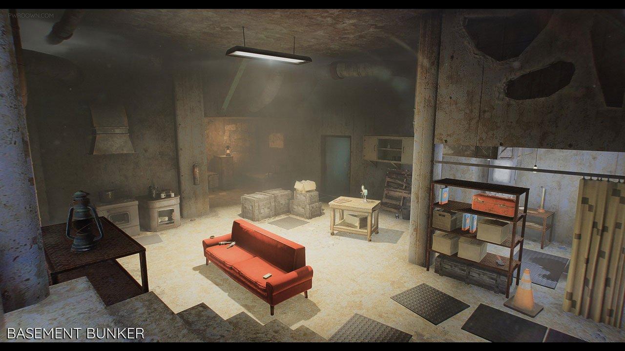 Fallout 4 Home Designs Part - 46: Fallout 4 Bunker Mod Basement Living