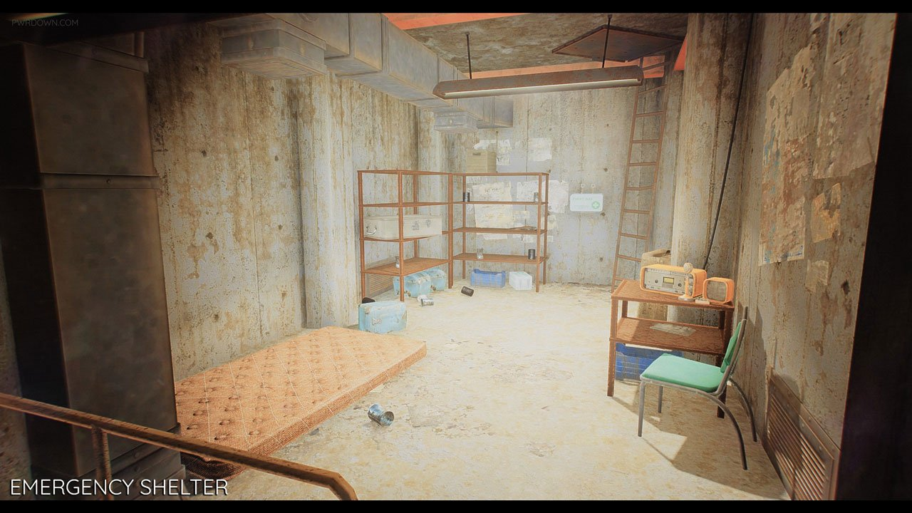 fallout 4 bunker mod basement living