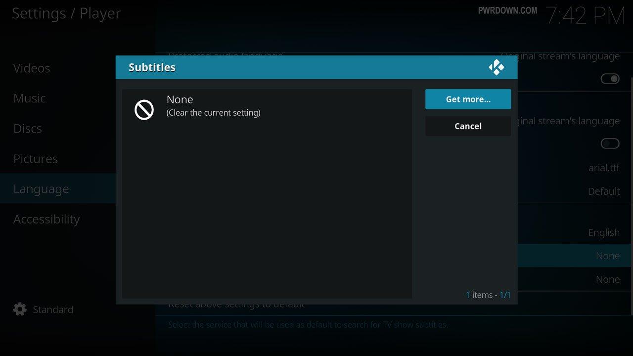 how to open subtitles to kodi