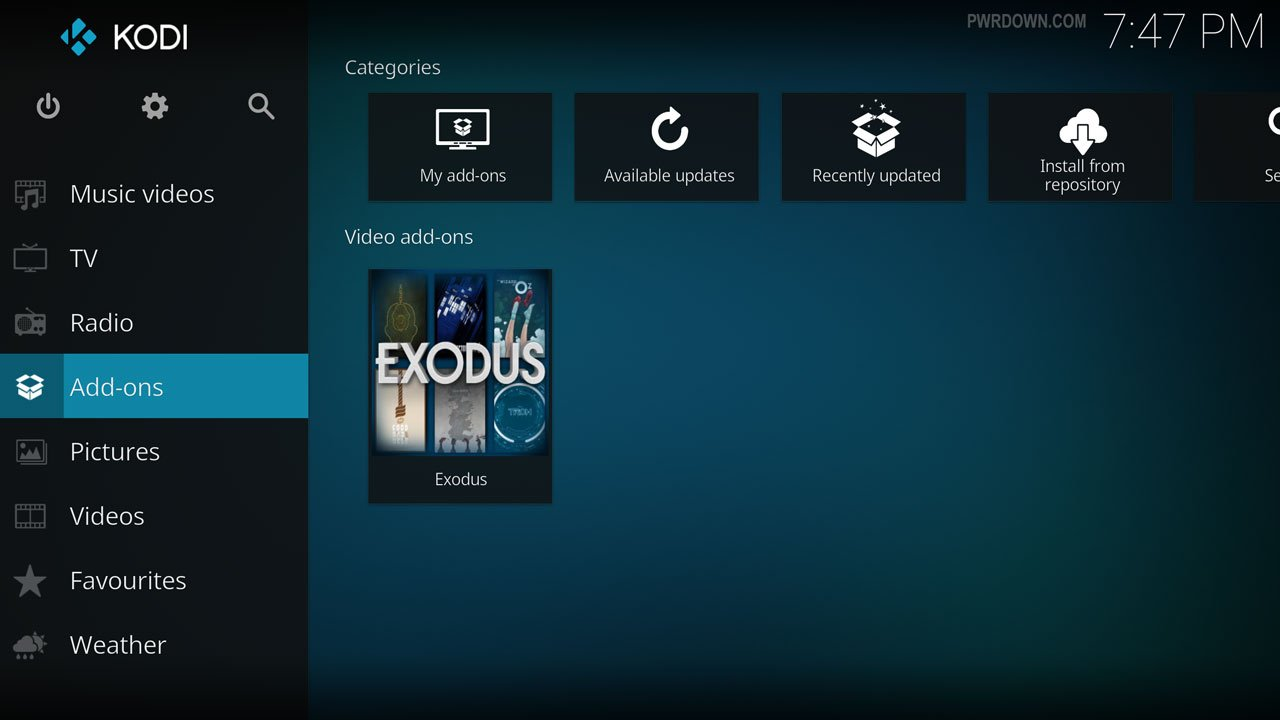Opensubtitles Kodi select addons from home screen menu
