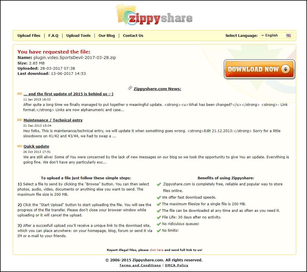 download the sportsdevil zip file