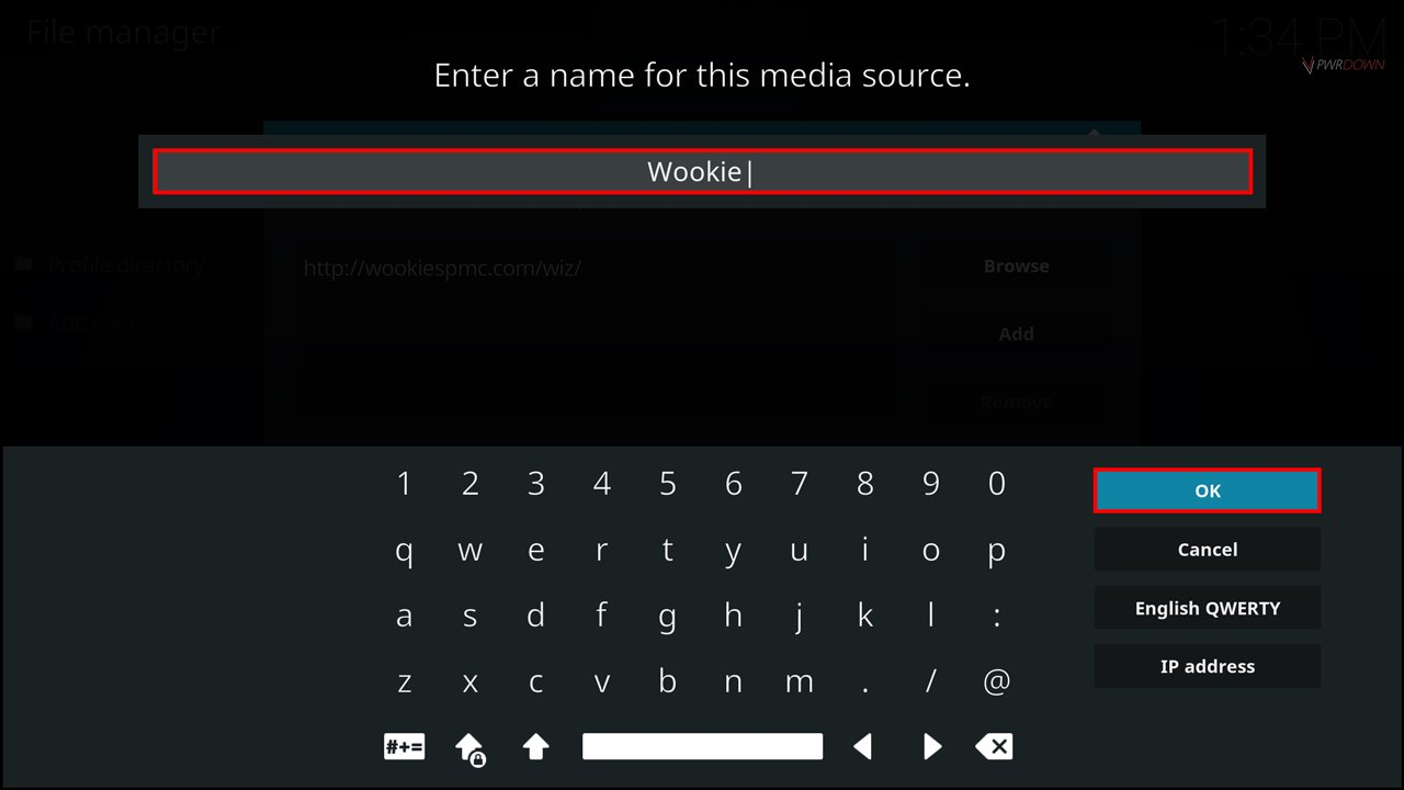input Wookie