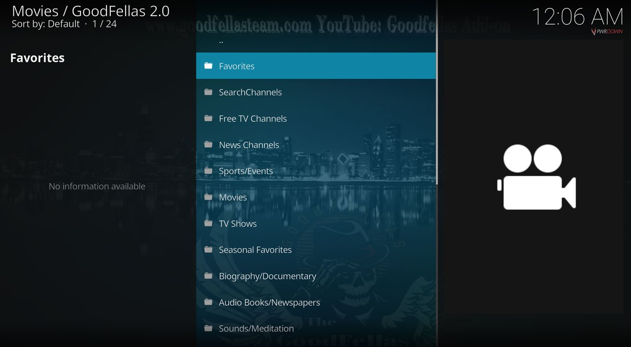 Goodfellas 2.0 Live TV & IPTV Kodi Add-on