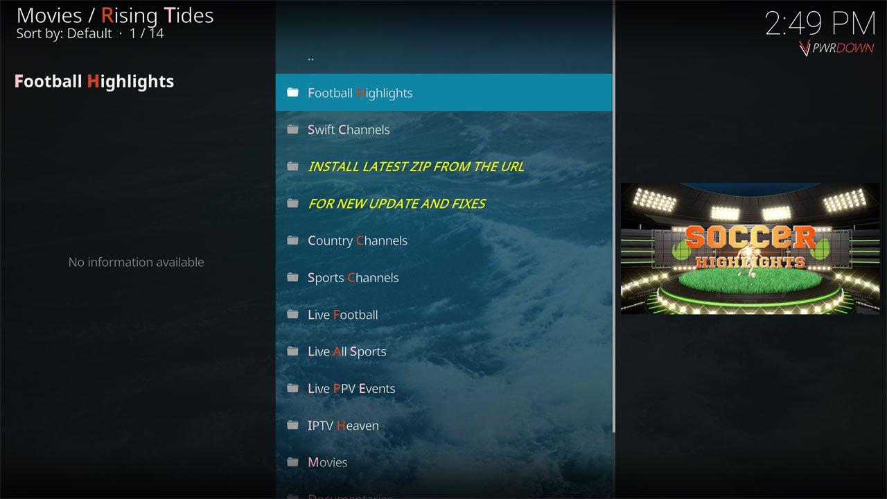Rising Tides Live TV & IPTV Kodi Add-on