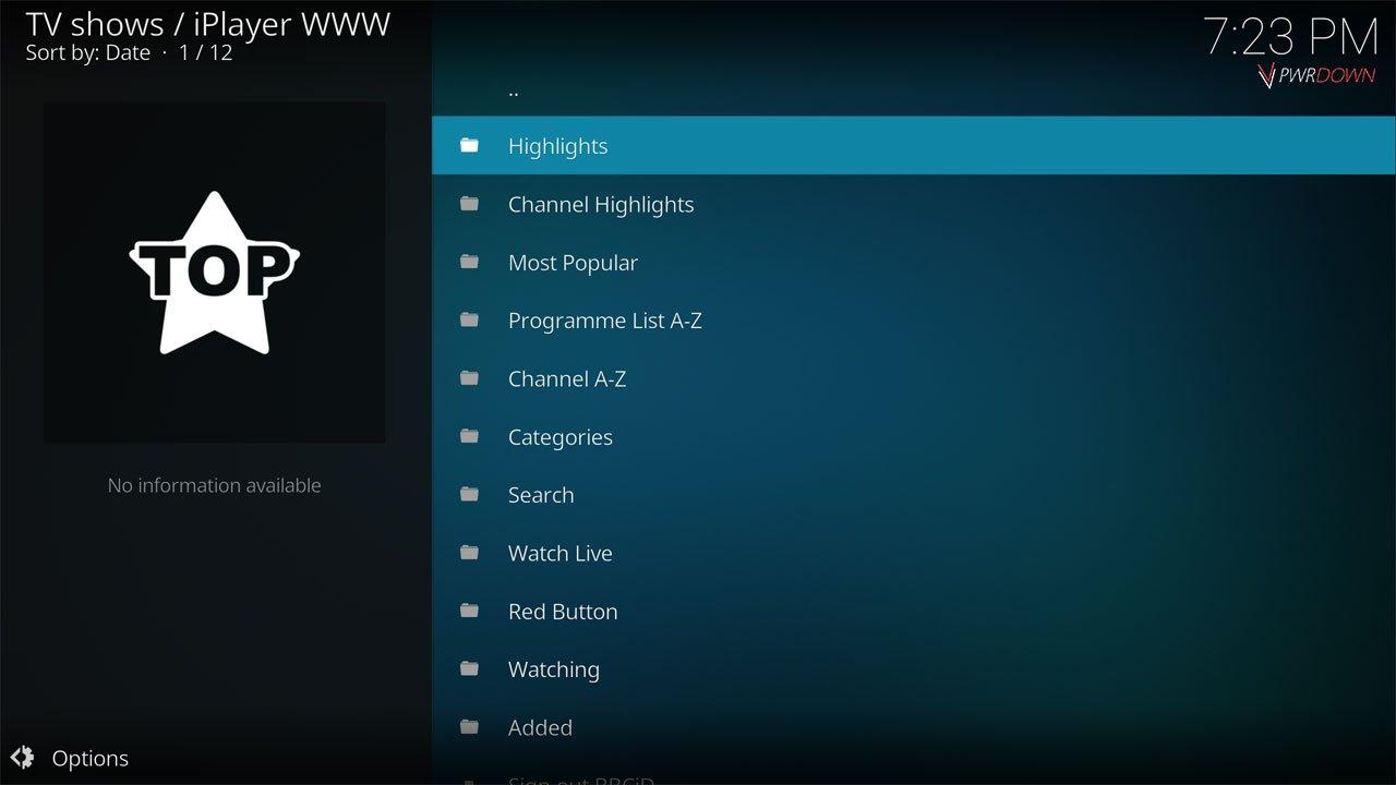iPlayer WWW Live TV & IPTV Kodi Add-on